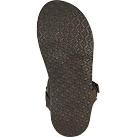 SOURCE Leather Urban Sandals Men Brown/Green